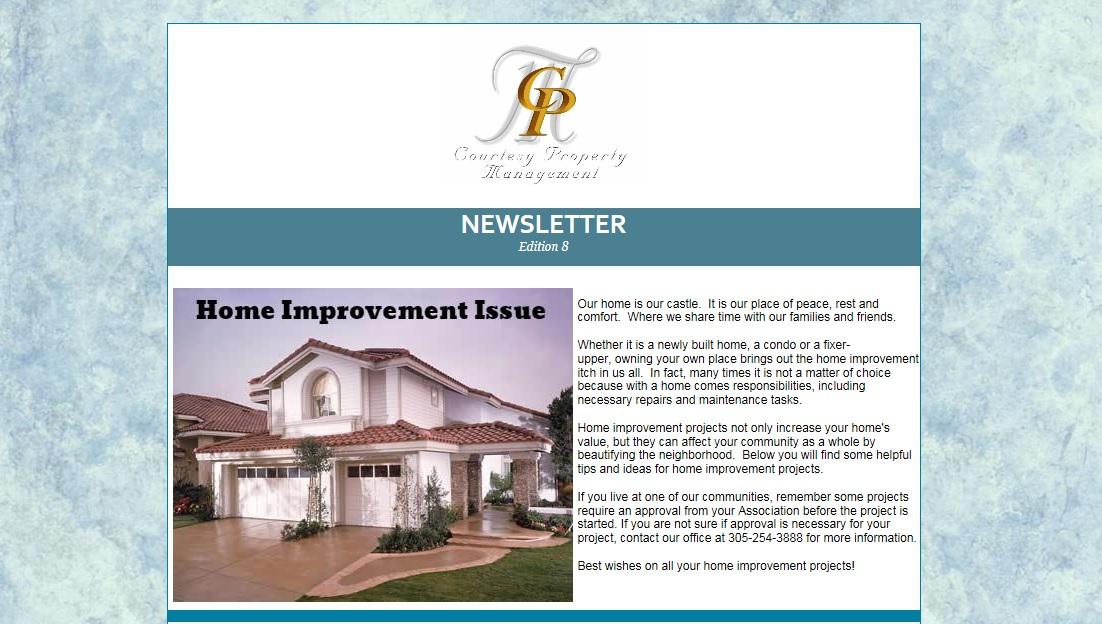 courtesy property management newsletter